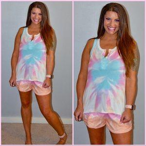 Sleeveless Tie Dye Loungewear/ Pajamas S-XL